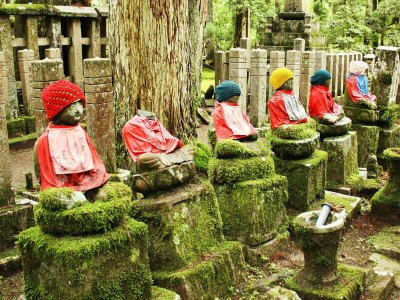 The red-robed Jizo statues helping Japanese parents grieve